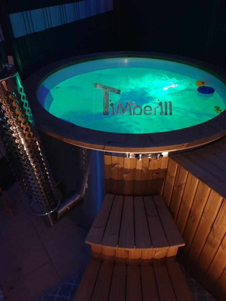 Wellness Royal Hot Tub Model Med Integreret Varmelegeme Termo Træ
