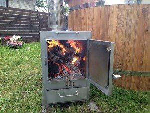 Udvendig ovn til vildmarksbade