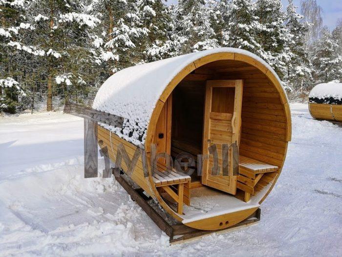 sauna tønde med brændeovn