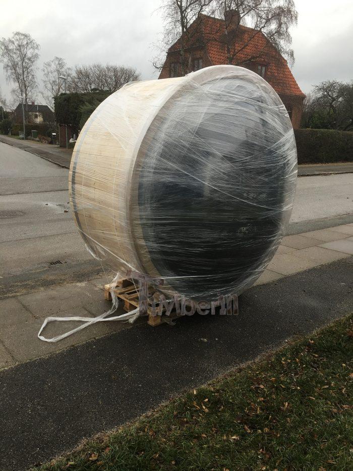 Vildmarksbad I Glasfiber Gran, Lærk Med Integreret Ovn Wellness Deluxe, Finn, Kastrup, Danmark (3)