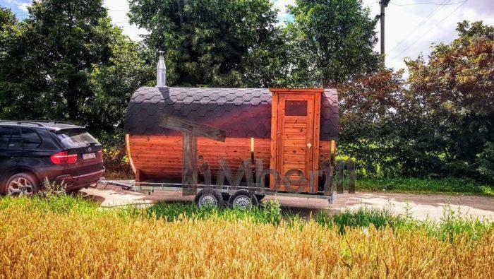 Udendørs Sauna På Traileren Mobil Harvia Ovn Med Omklædningsrum (33)