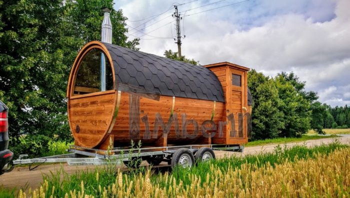 sauna tønde på trailer
