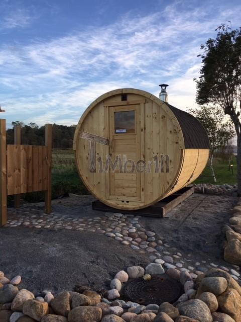 Udendørs Sauna Tønde I Træ Til Haven, Søren, Vejle, Danmark (1)