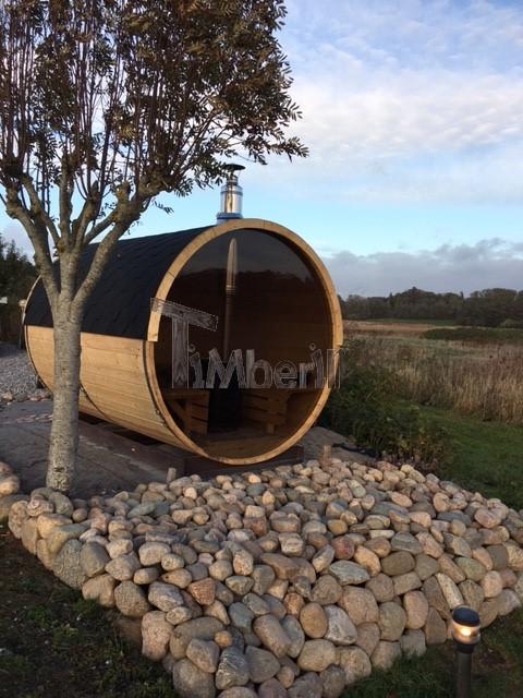 Udendørs Sauna Tønde I Træ Til Haven, Søren, Vejle, Danmark (2)