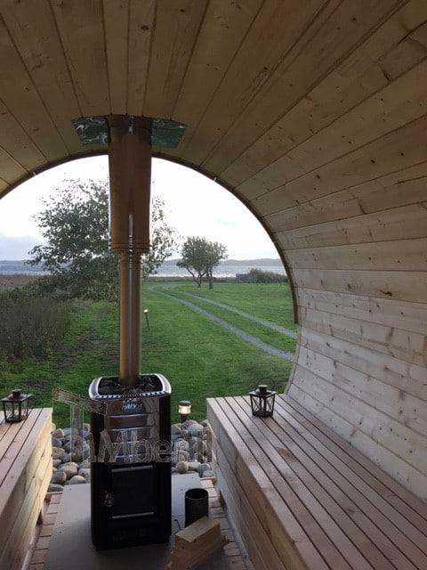 Udendørs Sauna Tønde I Træ Til Haven, Søren, Vejle, Danmark (3)