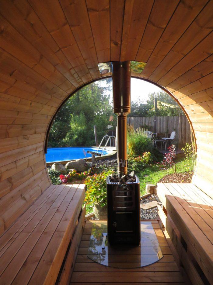 Udendørs Sauna Tønde I Træ Til Haven, Ole, Nibe, Denmark (3)
