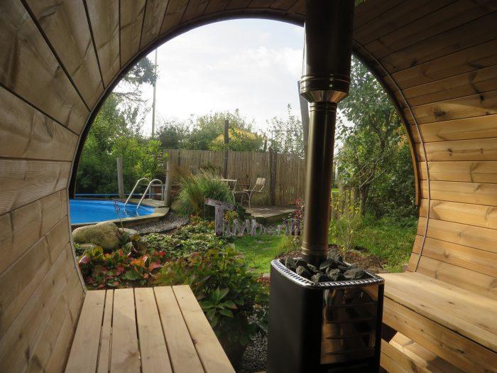 Udendørs Sauna Tønde I Træ Til Haven, Ole, Nibe, Denmark (7)