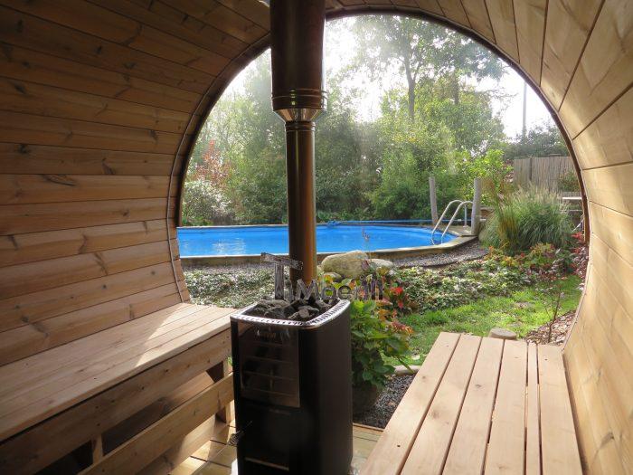 Udendørs Sauna Tønde I Træ Til Haven, Ole, Nibe, Denmark (8)